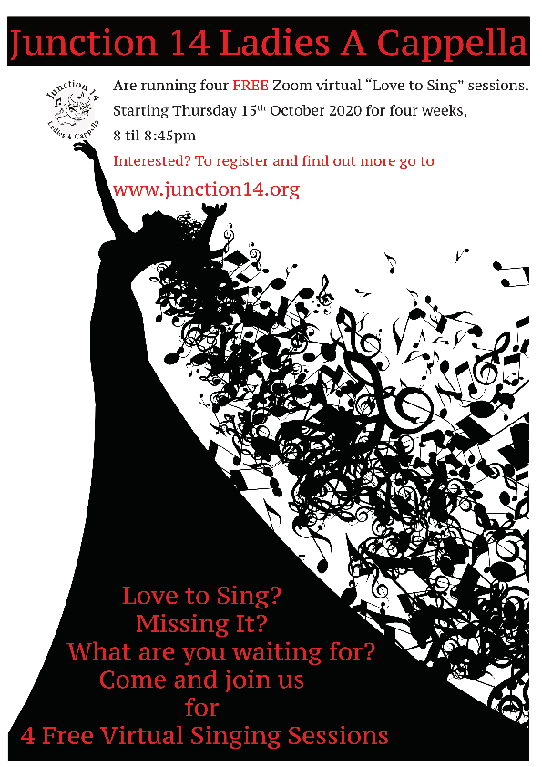 Virtual 'Love to Sing' Sessions – Click on the poster below or on our Events Page to find out more